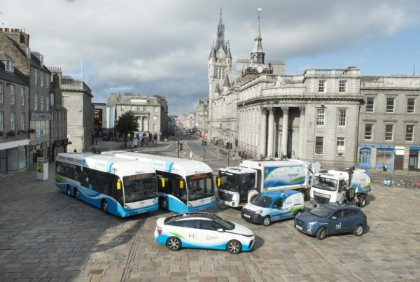 Aberdeen hydrogen vehicles. Image credit: Aberdeen City Council.